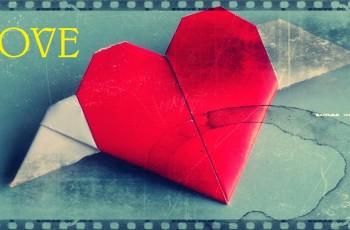 corazon con alas papiroflexia