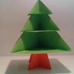 Como hacer origami paso a paso - Arbol de navidad origami ...