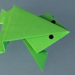 rana saltarina origami