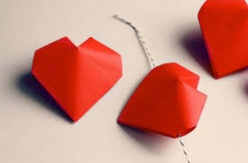 corazon inflable origami