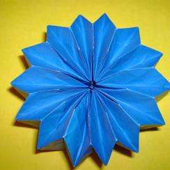 flor dalia facil de papel