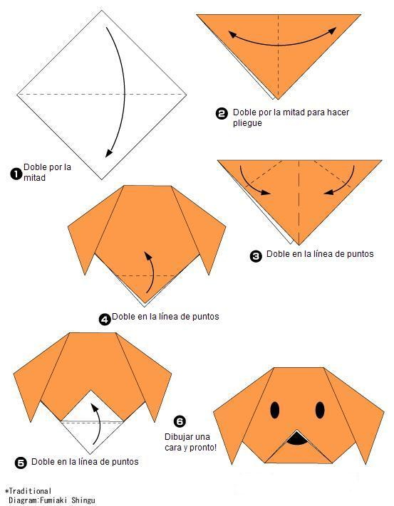 cara de perro origami