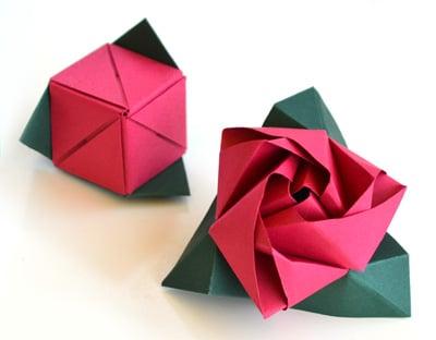 Rosa Cubo de papel - ComoHacerOrigami.net - photo#30