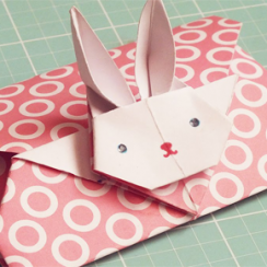sobre conejito origami