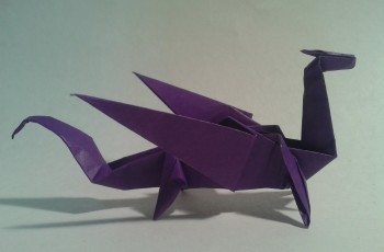 dragón fácil origami