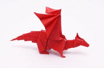 dragon papel origami
