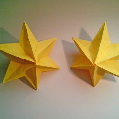 estrella modular de origami navidad