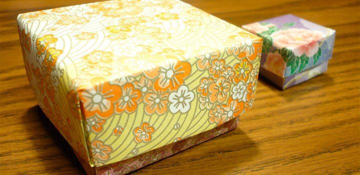 caja con tapa origami