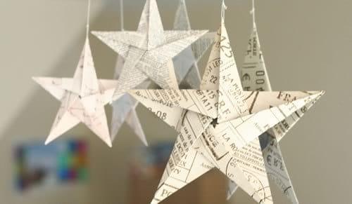 estrella de navidad origami
