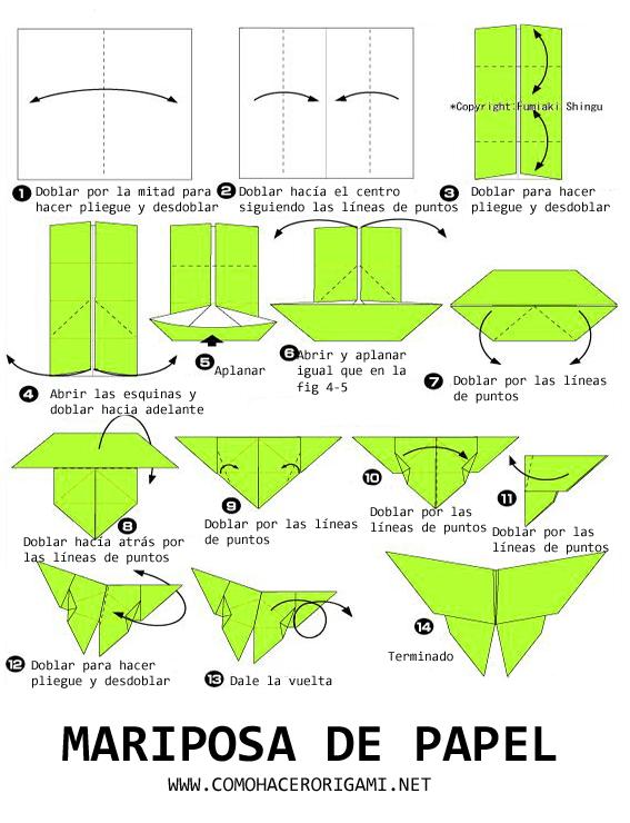 mariposa de papel paso a paso
