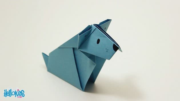 perro de origami