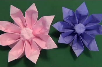 flor gerbera origami