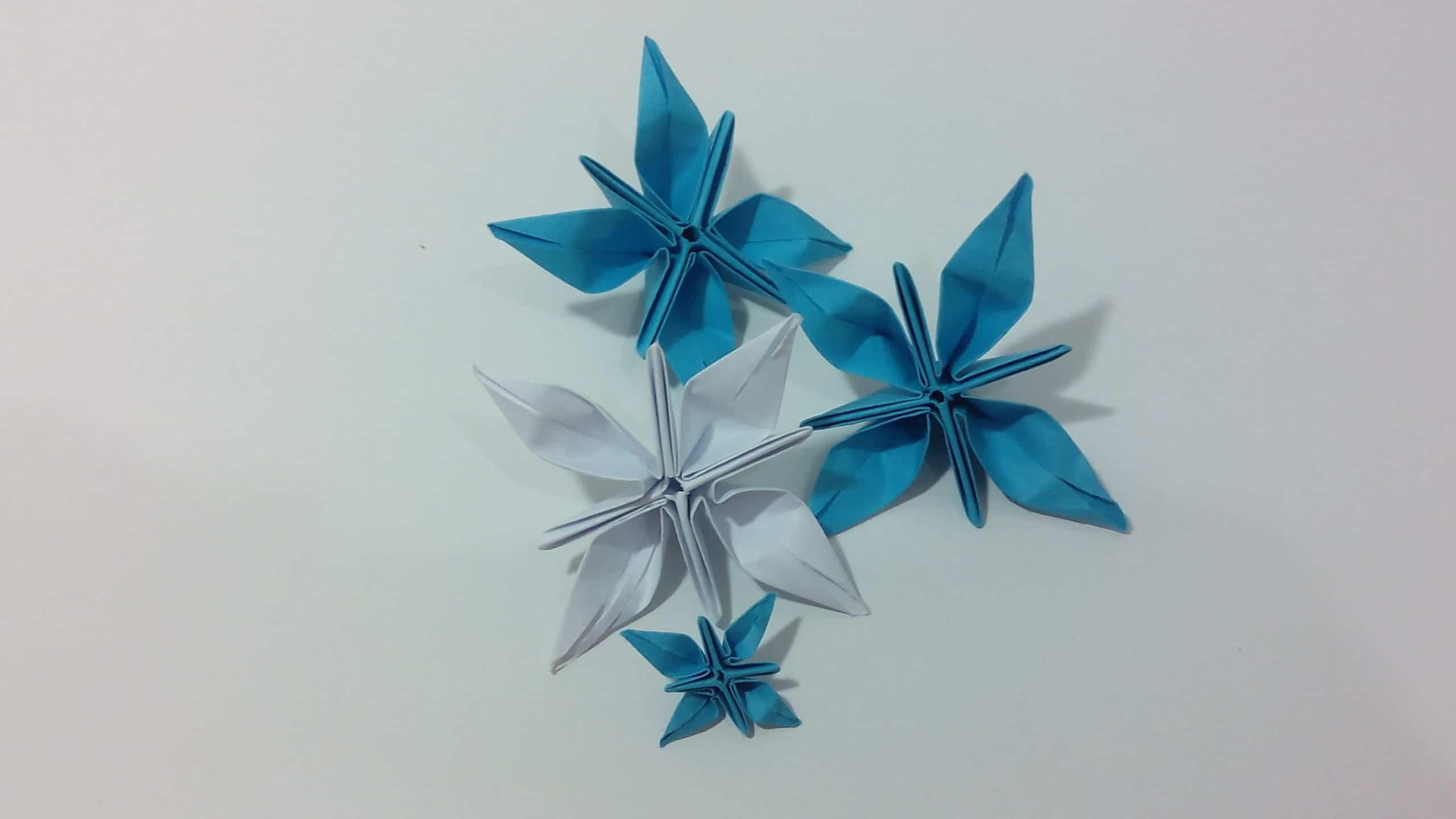 flor estrella origami