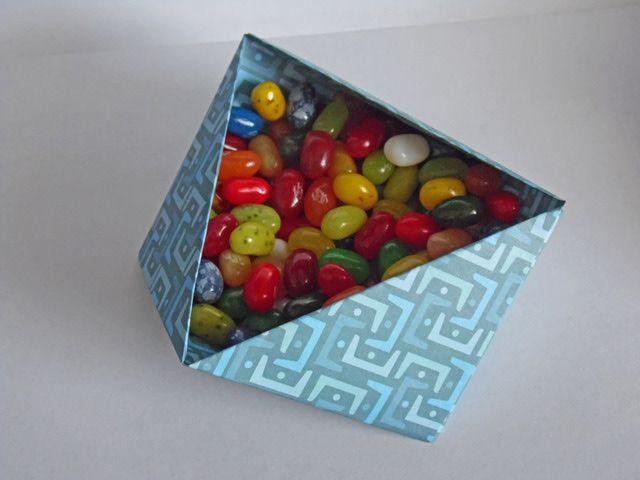 caja modular triangulo origami