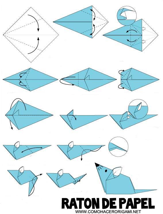 raton origami paso a paso