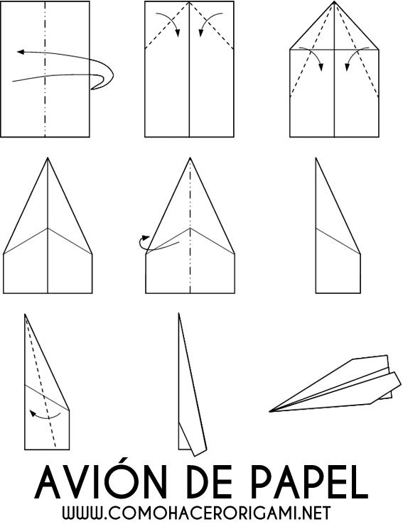 avion de origami diagrama