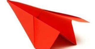 avion de origami